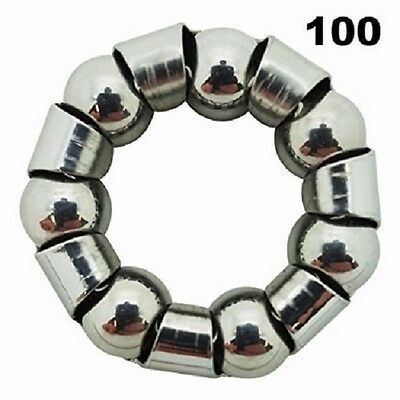One Hundred (100) Bicycle 1/4 x 7 Hub Ball Bearings With Retainer