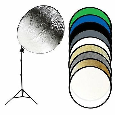 """Savage 43"""" 9-in-1 Round Photo Reflector Kit with Stand #RF9-KIT"""