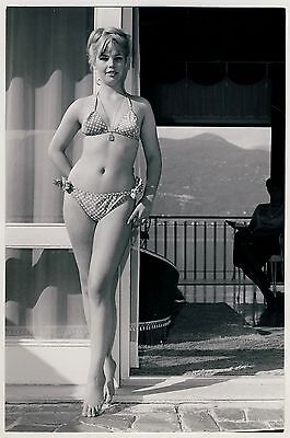Mode BLOND BIKINI GIRL / FRAU IM BIKINI Fashion * Vintage 50s SEUFERT Photo