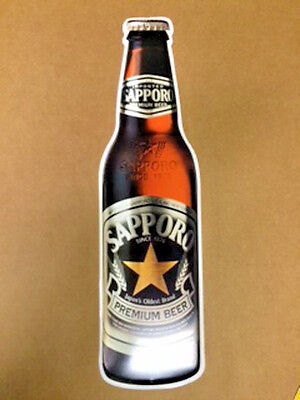 Sapporo Premium Beer Bottle Metal Tin Sign NEW