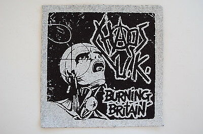 Chaos UK Cloth Patch Punk Rock Discharge Disorder GBH Amebix (CP25)