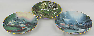Limited Edition Collector Plates-Kaiser & Knowles-Neybacher, Kinkade - LOT OF 3