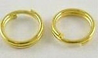 200-Gold Plated Split Rings-5mm+FREE-50 matching earring hooks          (2A8)