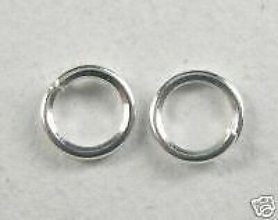 500-Silver Plated Jump Rings.5mm+FREE-50 matching earring hooks         (2A9)