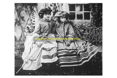 mm480- young Princesses Alice & Victoria -children of Queen Victoria -photo 6x4""