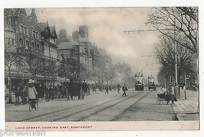 """"""" Southport, Lord Street,Looking East"""" 1904 Used Postcard."""