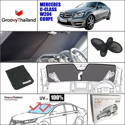 1 Pc Front Windshield Foldable Curtain Car Sun Shade Fit Benz C Class W204 Coupe