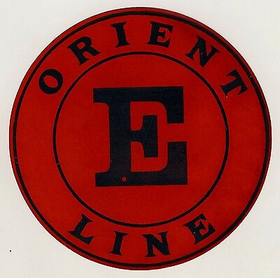 British Shipping Company ORIENT LINE * Old Luggage Label Kofferaufkleber