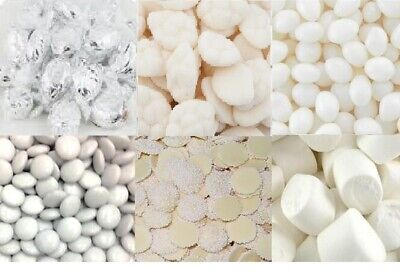6kg DIY White Lollies Choc Candy Bar Wedding Party + Accesories