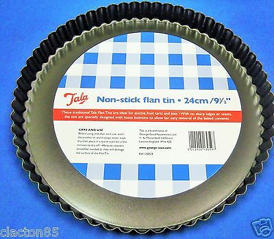 TALA 24cm x 3.5cm NON STICK FLAN QUICHE TART PIE QUICK RELEASE LOOSE BASE TIN