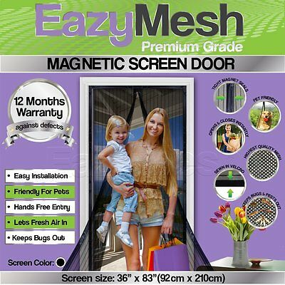 Premium Quality Magnetic Screen Door by EazyMesh Professionally Designed (EM100)