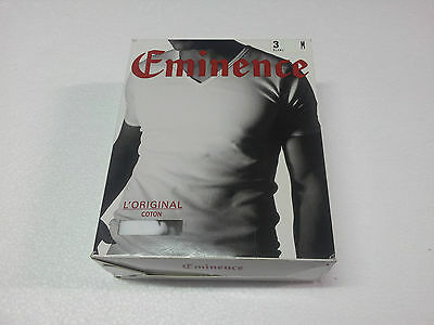 EMINENCE t- shirt man short sleeve V-neck 100 % cotone