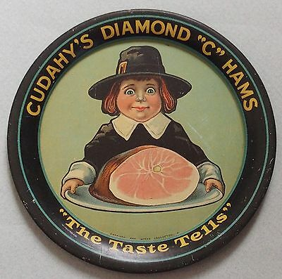 "Fantastic Cudahy's Diamond ""c"" Advertising Tip Tray Great Graphics Beautiful"
