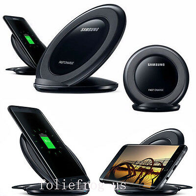 Qi Wireless Charging Pad Fast Charger Stand Dock For Samsung Galaxy S7 S7 Edge