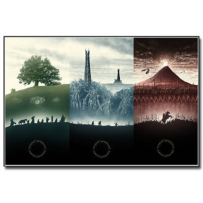 The Lord of the Rings 1 2 3 Movie Silk Poster 12x18 24x36inch The Hobbit