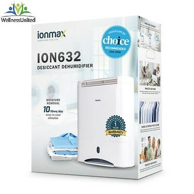 NEW 2017 Model Ionmax ION 632 Desiccant Dehumidifier 10L/D VotedNo1 By Choice