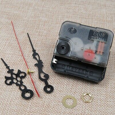 Quartz Clock Movement Mechanism Repair DIY Tool Kit+Black Hands Replacement CA