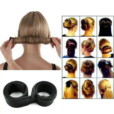 Women's Fashion DIY Hair Styling Bun Maker Donut Former Foam French Twist Tool