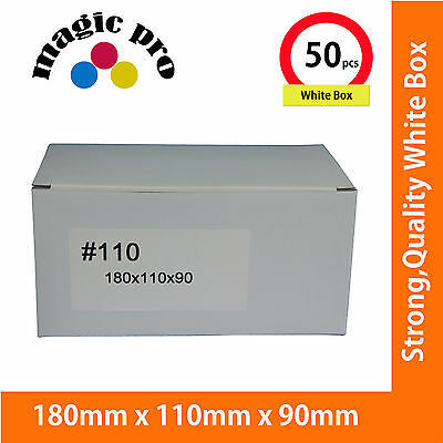 50X New Small Size White Mailing Box 180x110x90mm Carton POST Parcel Satchel