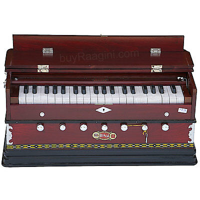 Harmonium Bina No.8 |Coupler Funct.|Rosewood Color|39 Key|3¼ Octaves|Bag|Agd