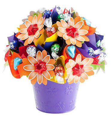 BRAND NEW Happy Bloom Medium - Edible Blooms Chocolate Bouquet Hamper - Chocolat
