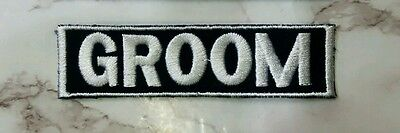 GROOM Embroidery Sew on Wedding name Patch Tag