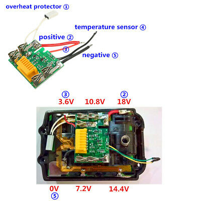 18V PCM PCB Li-ion Lithium Battery Protect Circuit Module For Makita Drill DIY