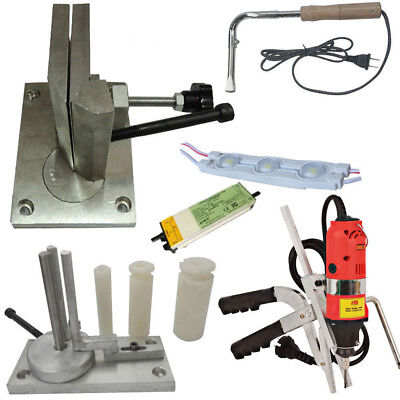 Metal Channel Letter Making Sets, Bending Tools + Slotter + LED Module + Power