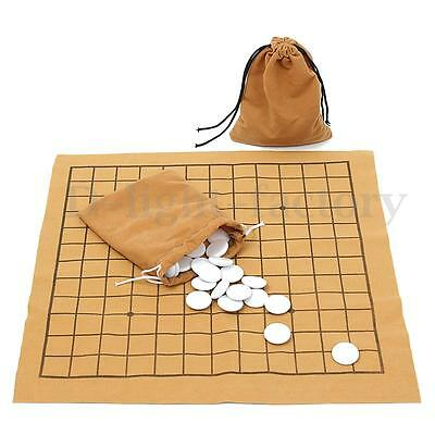 90Pcs Go Bang Chess Game Set Suede Leather Sheet Board Chinese Educational Toy