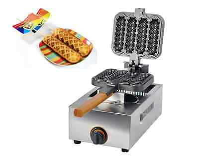 Commercial Non-stick LPG Gas Lolly Waffle Maker Baking Machine 4pcs/time