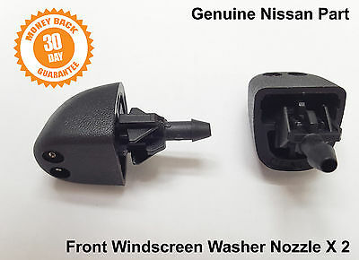 2 x Genuine Nissan Primastar Front Windscreen Washer Jets Jet Spray Nozzle
