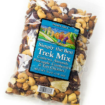 Trader Joe's Simply the Best Trek Mix 16 oz Cashews Almonds Cherries Cranberries