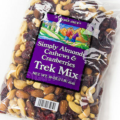 Trader Joe's Simply Almonds Trek Trail Mix Snack 16 oz Cashews Cranberries Fresh