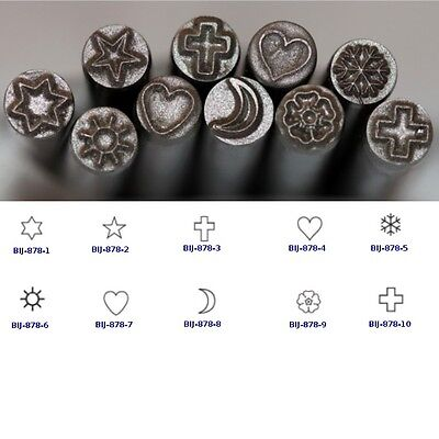 KENT 5.0mm Religious Symbols Precision Metal Punch Stamps, Sold Individually