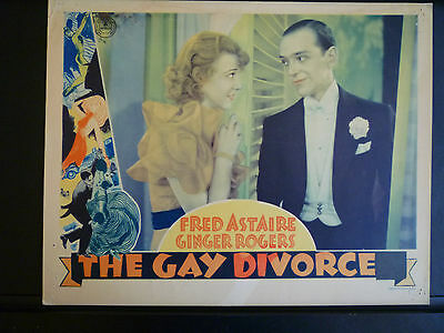 1934 The Gay Divorcee - Rare Vintage Lobby Card - Fred Astaire + Ginger Rogers