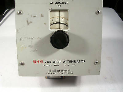 ALFRED VARIABLE ATTENUATOR  # E103 2-4 GHz TESTED GOOD