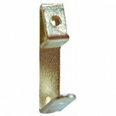 20 single picture hooks brass plated no1 size complete with nails free uk p+p