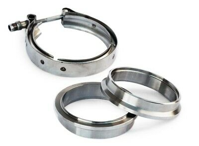 "Yonaka 2.5"" V-Band Flange Clamp Assembly Kit 304 Stainless Steel Male Female Set"