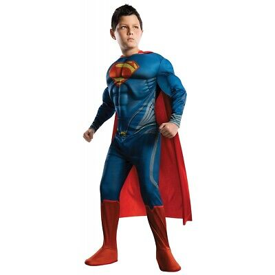 Superman Costume Kids Man of Steel Superhero Halloween Fancy Dress