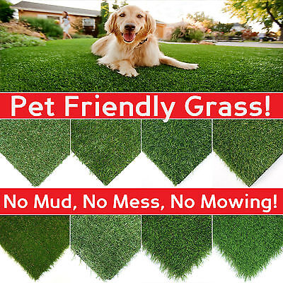 CLEARANCE Artificial Grass Lawn Quality Realistic Natural Fake Garden Turf CHEAP