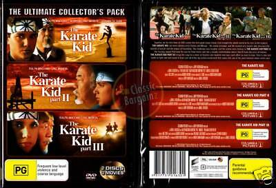 KARATE KID 1+2+3: Ultimate Collectors Pack =NEW DVD R4 (Region 4 Australia)