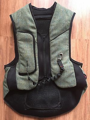 """NEW GORGEOUS TWEED Point Two Safety Equestrian Air Vest """"Hunter"""" Style Size XS"""