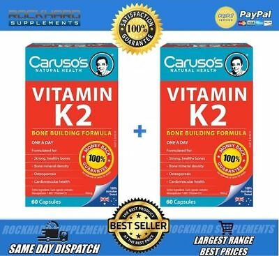 Caruso's Natural Health Vitamin K2 Twin Pack 2x60 Tabs Strong Healthy Bones