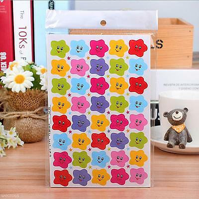 400Pcs Children Kids Stars Smiley Face Reward Paper Stickers Gift for Students