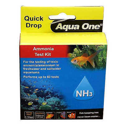 Aquarium Test Kit Amonia NH3 Quick Drop 92053 Fish Tank Aqua One