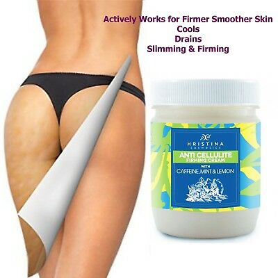 Anti Cellulite Slimming Cream Lose Weight Fat Burner Caffeine Mint Lemon 200ml