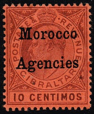 Morocco 1903 10c. dull purple / red, MH (SG#18)