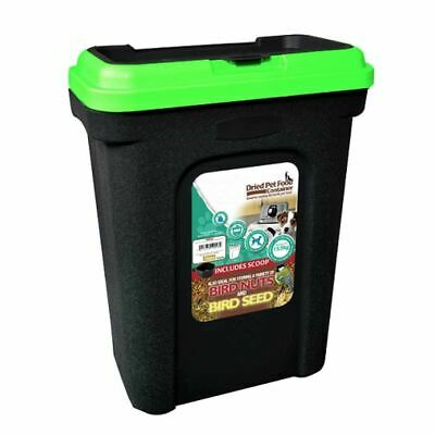 Pet Food Storage Container Dry Cat Dog Food Bird Seed Box Bin Flip Top Lid Scoop