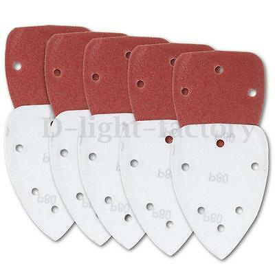10x Grit 140mm Mixed Mouse Sander Pads Sanding Sheets Discs NEW
