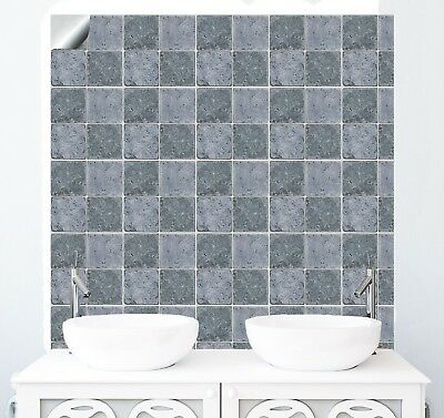 "6"" Stone Effect Tile Stickers for Kitchen Bathroom Decal Sticker Transfers NJP08"